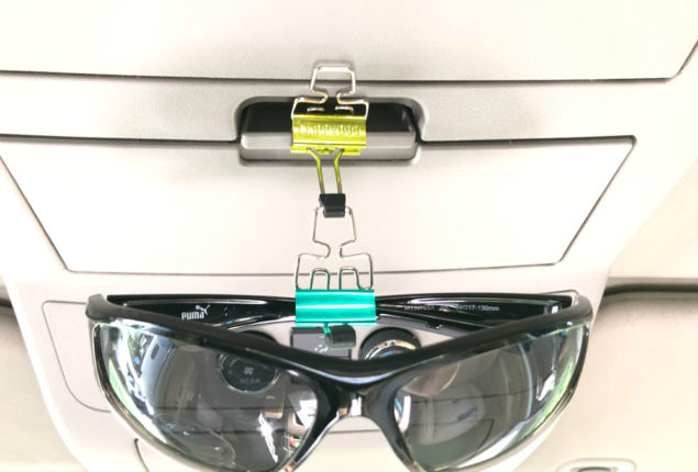 Hang Sunglasses Anywhere